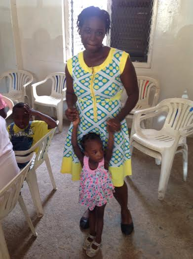 Hannah Awadzi with her daughter at the event celebrating world cerebral palsy day 2015