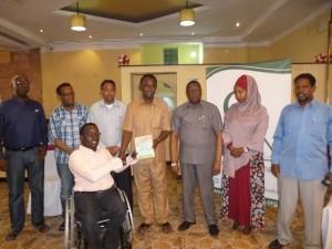 Somali disability advocate receives national award
