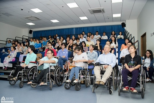 Disabled participants try and provide feedback on the app