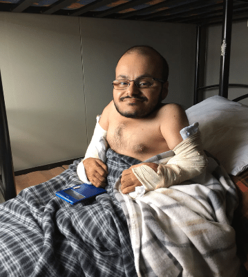 My last chance: the story of Qusai, a disabled Syrian refugee