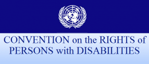 Logo with words Convention on the Rights of Persons with Disabilities