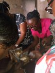 Mothers of children with cerebral palsy trained to make APT Chairs