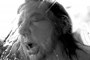 Belinda Mason Photo. Water splashed on woman's face