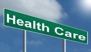 sign saying 'health care'
