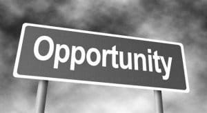 Banner with the word 'opportunity' written